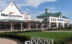 shopping at outlet malls