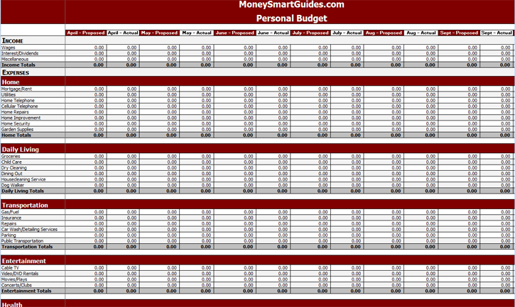10 Free Excel Spreadsheet Templates To Help Explode Your Wealth – Personal Budgeting Worksheets